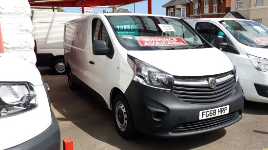used vehicle 2018 '68' Vauxhall Vivaro LWB 120bhp